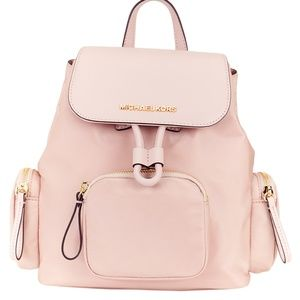 Michael Kors Baby Pink Canvas Backpack